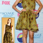 Zoe Saldana wins Teen Choice Award Dressed in Jonathan Saunders dress