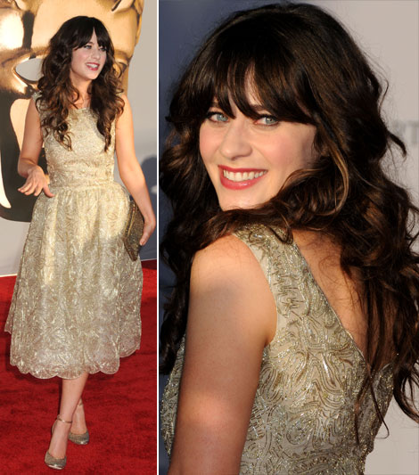 Zooey Deschanel OdlR dress BAFTA event