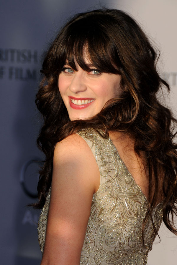 Zooey Deschanel smiling bright BAFTA Brits to watch