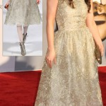 Zooey Deschanel sparkling Oscar de la Renta dress BAFTA Brits to watch