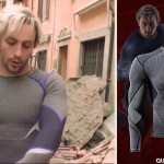 Aaron Taylor Johnson Quicksilver Under Armour top Avengers 2 Age of Ultron
