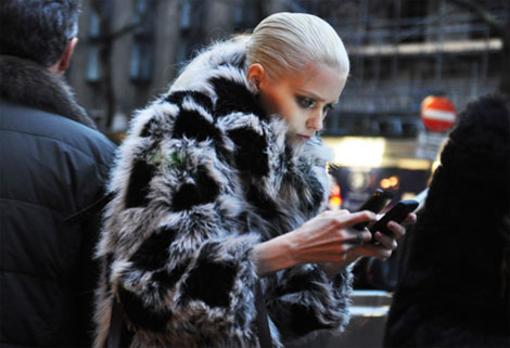 The Model, The Fur Coat And The Mobile Phone