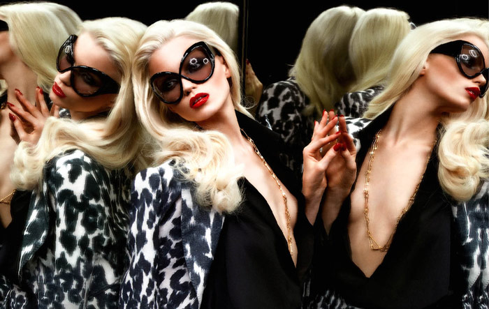 Abbey Lee Kershaw For Tom Ford Eyewear Summer 2011 Campaign