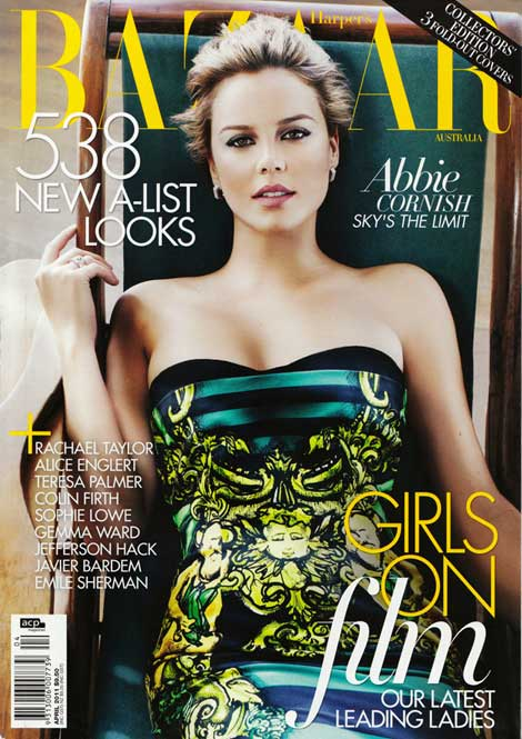 Abbie Cornish Harper s Bazaar Australia April 2011 cover