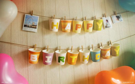 ABC paper cups decorations
