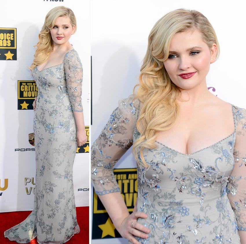 Abigail Breslin dress 2014 Critics Choice Awards
