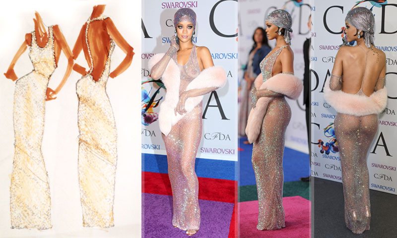 Adam Selman dress for Rihanna CFDA 2014