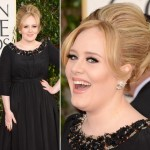 Adele Burberry black dress 2013 Golden Globes