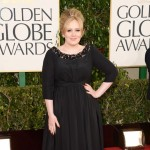 Adele Burberry black long dress 2013 Golden Globes