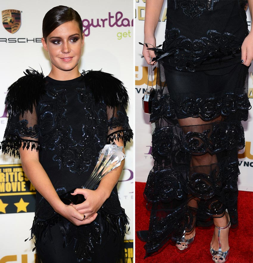 Adele Exarchopoulos see through Vuitton dress Critics Choice Awards