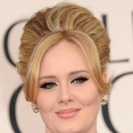 Adele hair makeup jewelry 2013 Golden Globes