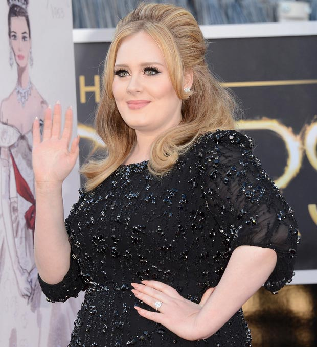Adele hair makeup nails 2013 Oscars