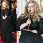 Adele Jenny Packham black lace dress 2013 Oscars