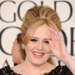 Adele won Golden Globe Award black dress