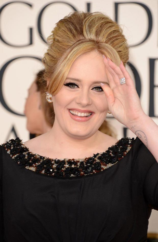 Adele's Burberry Black Dress 2013 Golden Globes