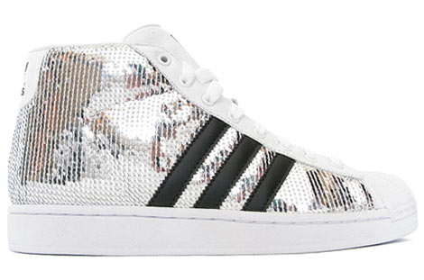 Adidas Original Silver JS Sequin By Jeremy Scott