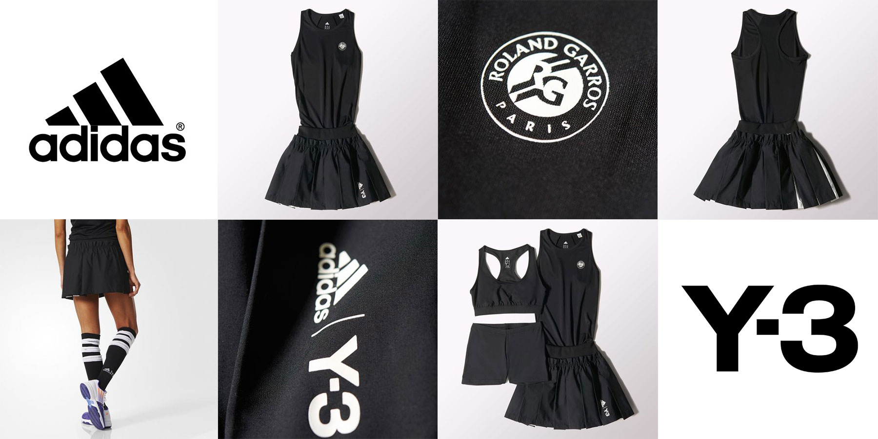 adidas Y 3 tennis Roland Garros uniforms