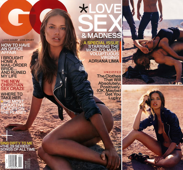 Adriana Lima highest selling GQ April 2006