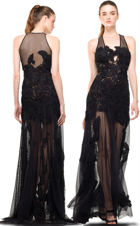 affordable maxi see through lace dress