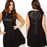 affordable party sequined dress black