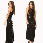 affordable party sequined dress black stripes
