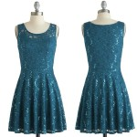 affordable party sequined dress teal lace