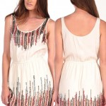 affordable party sequined dress white hippie