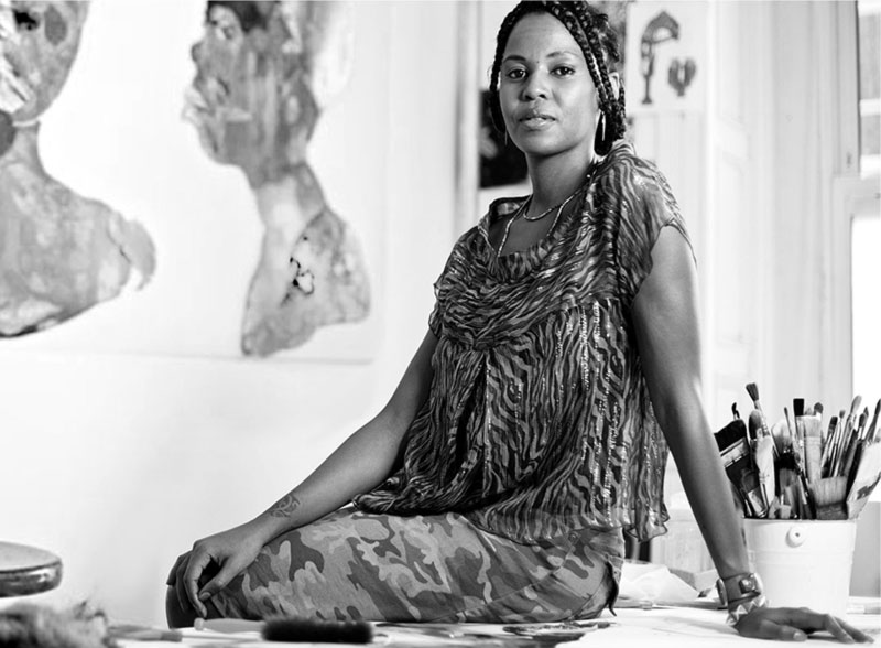 African Artist Wangechi Mutu designed the Born Free prints