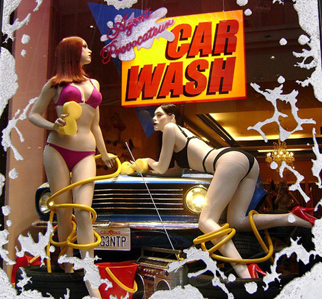 Agent Provocateur Car Wash window