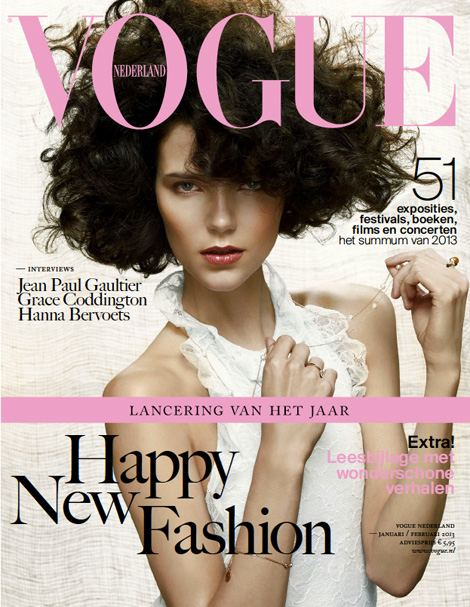 Agnes Nabuurs Vogue Netherland January 2013 cover
