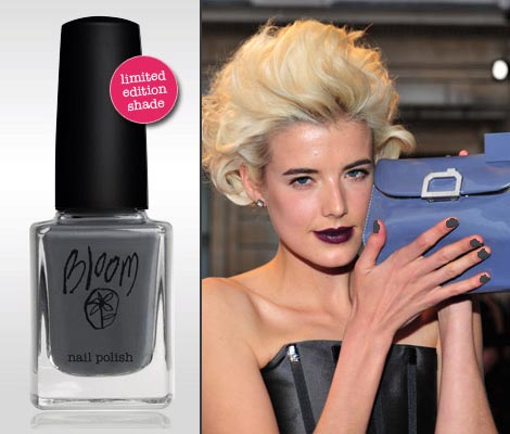 Agyness Deyn Bloom gray nail polish