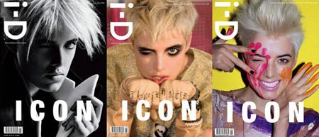 Agyness Deyn on the Cover of I-D Magazine May 2008