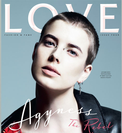 Agyness Deyn Love Four Cover