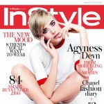 Agyness Deyn white red InStyle March 2013 cover