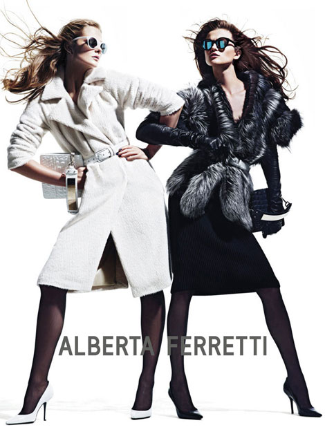 Alberta Ferretti's Fall 2012 Ad Campaign: Day & Night