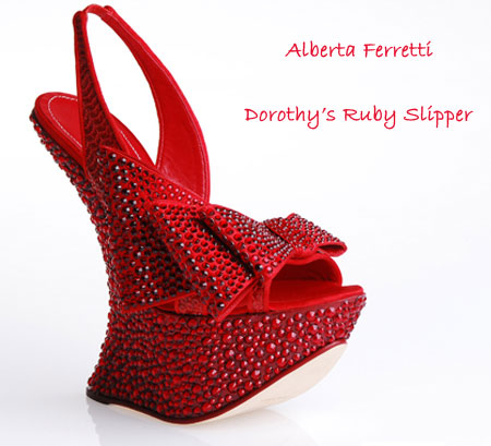 Dorothy's Ruby Slipper By Alberta Ferretti