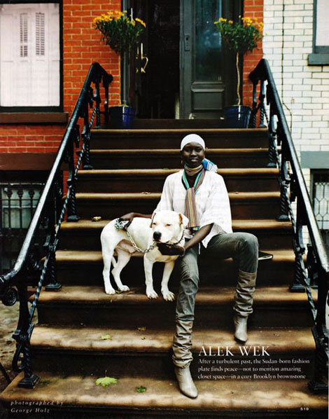 Alek Wek NY Apartment stairs