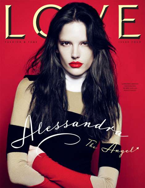 Alessandra Ambrosio Love four cover