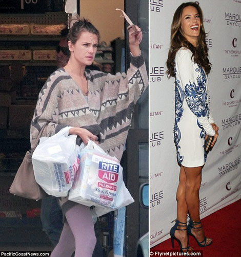 Alessandra Ambrosio With And Without Makeup