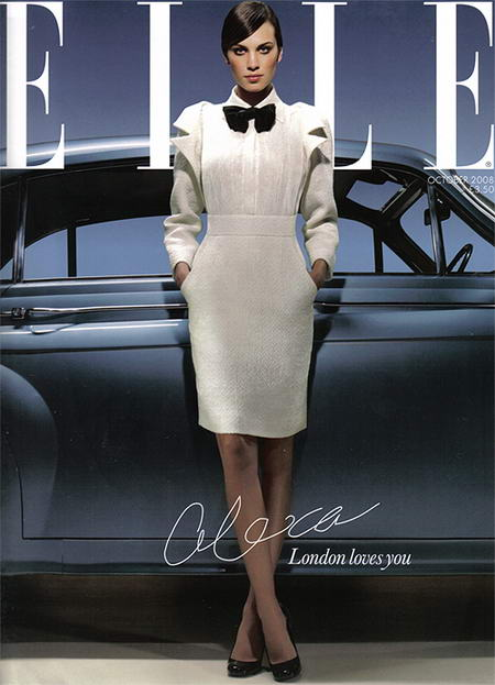 Alexa Chung Elle UK October 2008 cover