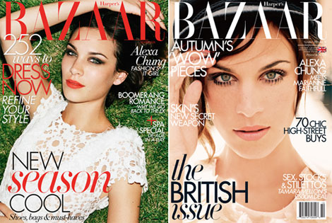 Alexa Chung Harpers Bazaar October 2011 Australia Uk covers
