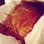Alexa Chung in bed without makeup wakeupcall