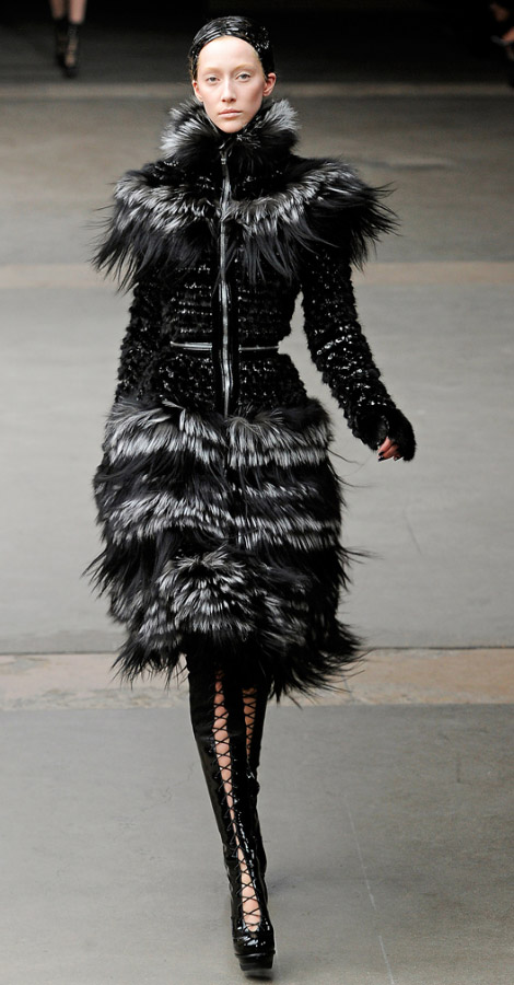 Alexander McQueen Fall Winter 2011 2012 collection Alana Zimmer
