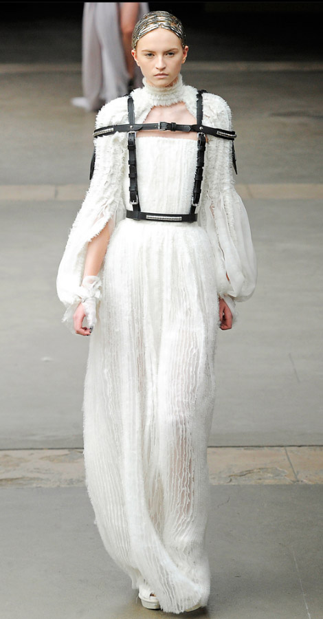 Alexander McQueen Fall Winter 2011 2012 collection Anabella Belikova
