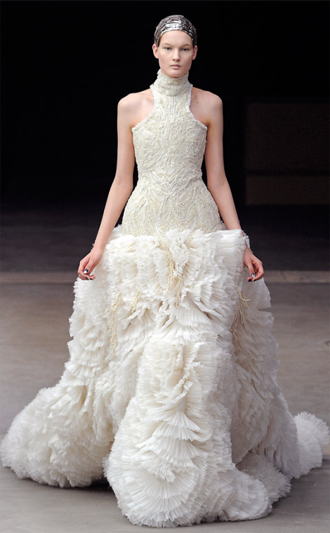 Alexander McQueen Fall Winter 2011 2012 collection Kirsi Pirhonen