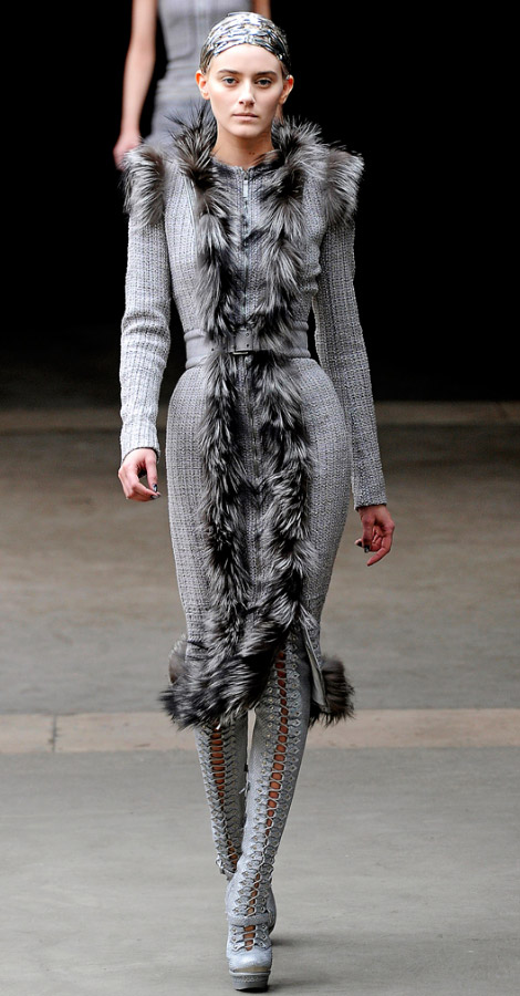 Alexander McQueen Fall Winter 2011 2012 collection Kori Richardson