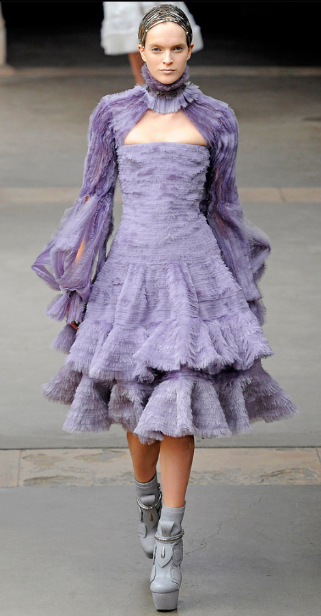 Alexander McQueen Fall Winter 2011 2012 collection Mirte Maas