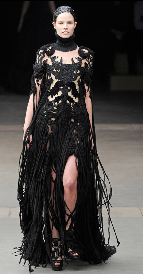 Alexander McQueen Fall Winter 2011 2012 collection Suvi Koponen