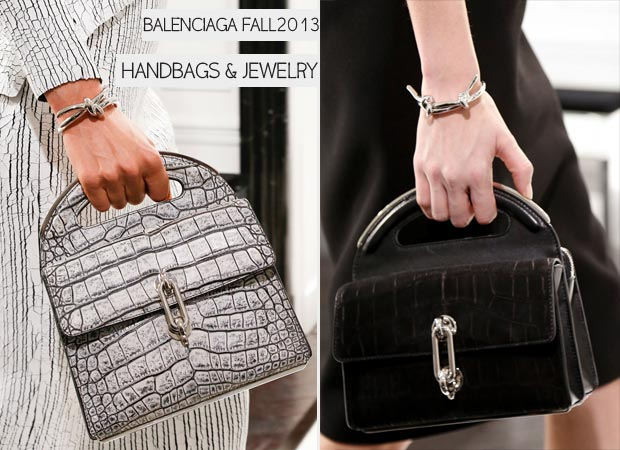 Alexander Wang for Balenciaga Fall 2013 bags and jewelry