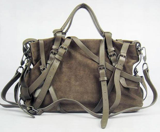 Alexander Wang Kirsten suede strapped tote
